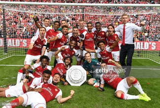 Arsenal 1-1 Chelsea (4-1 on penalties): Gunners secure first silverware of the season with shootout win over Chelsea