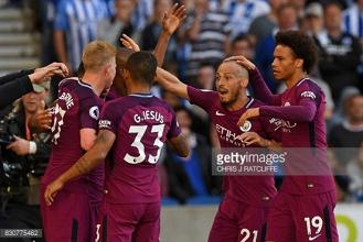 Brighton and Hove Albion 0-2 Manchester City: Citizens kick off season with comfortable win