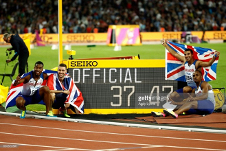 London 2017: Britain's men take phenomenal 4x100m relay Gold; women claim silver
