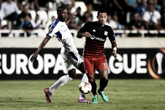 Depay marca, mas Lyon vacila diante do Apollon Limassole sofre empate no fim