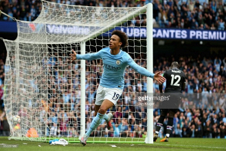 "Fernandinho hails the ""great talent"" of Manchester City team-mate Leroy Sané after Palace pummelling"