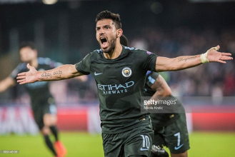 """Sergio Agüero """"very happy"""" to become Manchester City's all-time top scorer during Napoli victory"""