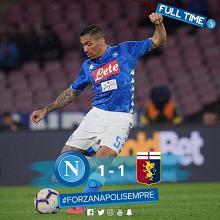 Serie A - Colpo del Genoa in dieci: Napoli fermato 1-1 al San Paolo