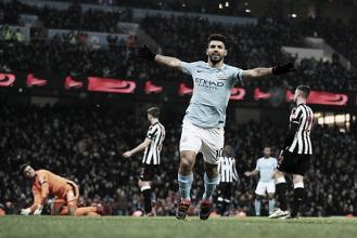Agüero marca hat-trick e comanda vitória do Manchester City sobre Newcastle