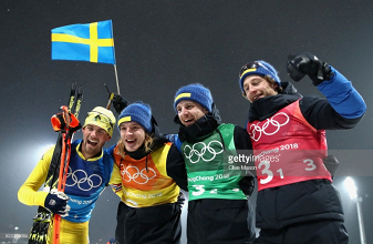 PyeongChang 2018 day 14 round-up: Sweden's men win final biathlon gold in error-strewn relay