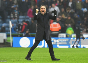 "Carlos Carvalhal left ""very happy"" following his side's 0-0 draw against Huddersfield Town with 10 men"