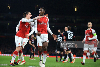 Arsenal (5) 3-1 (1) AC Milan: Welbeck brace sees Arsenal progress