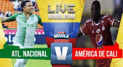 Fin al invicto del América: Nacional lo venció 2-0 en el Atanasio