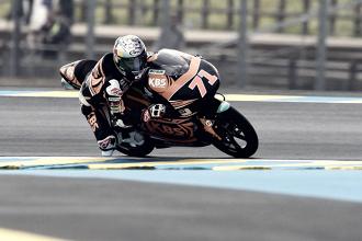 Moto 3 arranca en Le Mans con registros variados y ajustados
