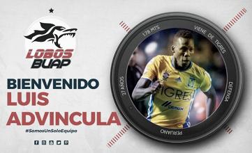 Luis Advíncula es el nuevo fichaje del Lobos BUAP de México