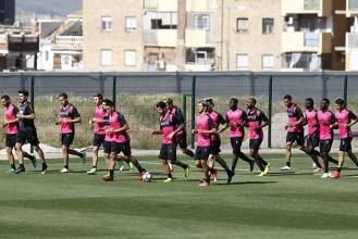 Cuatro entrenamientos antes del último partido contra el Espanyol