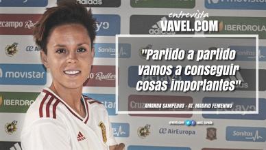 """Entrevista a Amanda Sampedro: """"Partido a partido vamos a conseguir cosas importantes"""""""