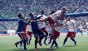 Bundesliga - Waldschmidt salva l'Amburgo e manda il Wolfsburg al play-out (2-1)