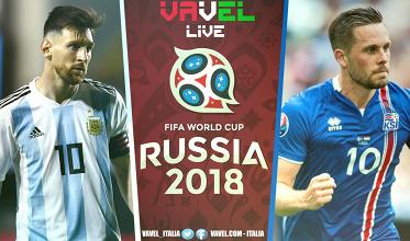 Argentina - Islanda in diretta, LIVE Mondiale Russia 2018: finisce 1-1! L'Islanda frena l'Argentina e si regala un esordio da sogno!