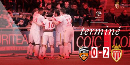 Lorient s'incline à domicile face à Monaco
