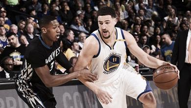 Klay Thompson comanda vitória do Warriors sobre Timberwolves e mantém sequência de vitórias