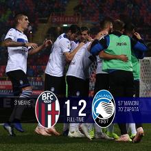 Serie A- Il Sassuolo spinge il Chievo nel buio, l'Atalanta rimonta il Bologna