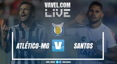 Resultado Atlético-MG x Santos pelo Campeonato Brasileiro 2017 (0-1)