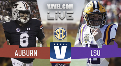 Score Auburn Tigers vs LSU Tigers of 2017 SEC Football (23-27)