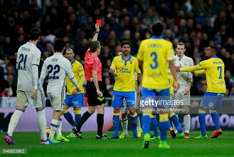 Real Madrid 3-3 Las Palmas: Bale sent off as Ronaldo rescues Real with two late goals