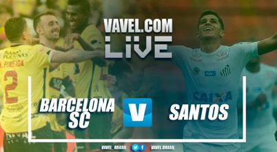 Resultado Barcelona SC 1-1 Santos en ida Copa Libertadores 2017