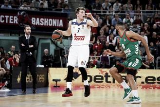 Un celestial Doncic asalta el Buesa Arena situando líder europeo al Madrid