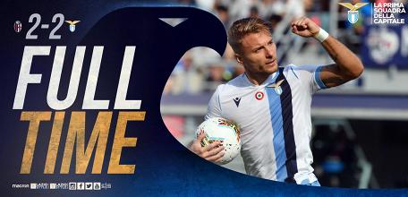Serie A- Il Bologna va due volte in vantaggio, ma Immobile salva una Lazio opaca e sprecona (2-2)