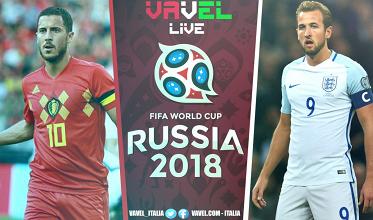 Terminata Belgio-Inghilterra, LIVE Mondiali Russia 2018 (2-0): Belgio al terzo posto!
