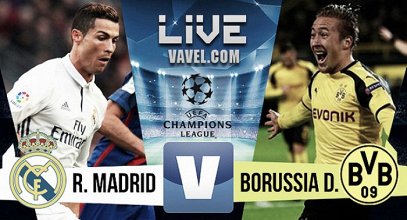Borussia Dortmund vs Real Madrid en vivo y en directo online en Champions League 2017
