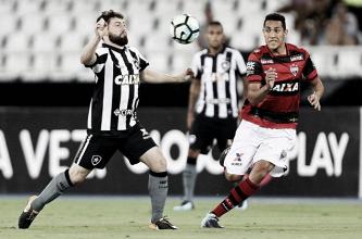 Atlético-GO segura pressão, derrota Botafogo e segue vivo na briga contra o rebaixamento