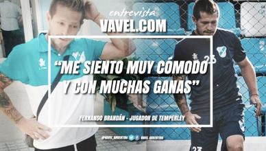 """Entrevista. Fernando Brandán: """"Me siento muy cómodo y con muchas ganas"""""""
