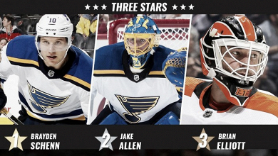Los Blues de St. Louis dominan las estrellas de la semana