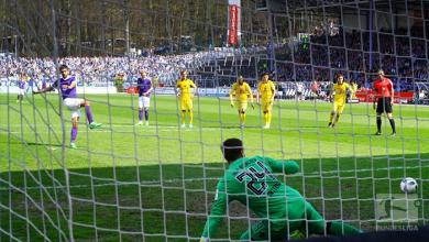 Erzgebirge Aue 3-0 1860 Munich: Nazarov penalty double helps Violas continue revival