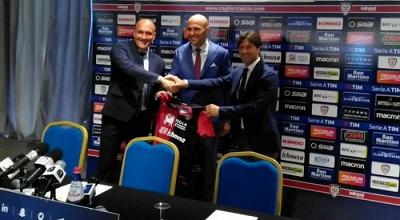 """Cagliari, giornata di presentazione per Rossi: """"Vorrei far giocare i giovani"""". Rastelli: """"Borriello perno fondamentale"""""""