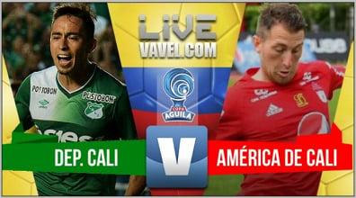 Deportivo Cali empató ante América y se clasificó a las semifinales de la Copa Águila