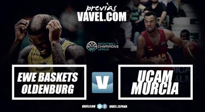 EWE Baskets - UCAM Murcia: La segunda plaza del grupo se juega en Oldenburg