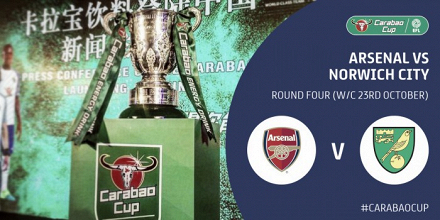 Arsenal vs Norwich City en vivo y en directo online en Carabao Cup 2017