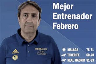 Luis Casimiro, el mejor entrenador de febrero