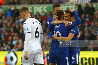 Swansea City 0-1 Chelsea: Blues improve top four hopes with narrow win