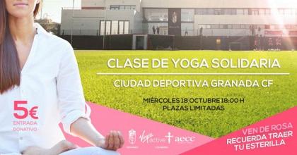 El Granada CF y la AECC organizan una clase de yoga solidaria