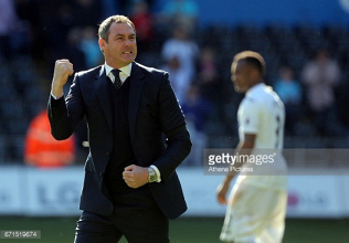 "Paul Clement believes Swansea are ""on the up"""