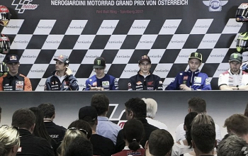 """Conferenza stampa pre GP Austria. Rossi: """"Flag-to-flag fase difficile"""". Marquez: """"Non sarà facile"""""""