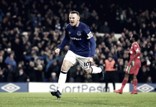Wayne Rooney (32) esulta per il 3-1. Fonte: https://twitter.com/everton