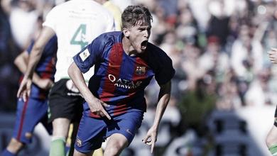 El Barça 'B' golea al Racing de Santander
