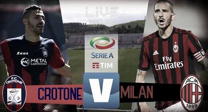 Terminata Crotone-Milan Serie A 2017/18 (3-0): Primi tre punti per i rossoneri!