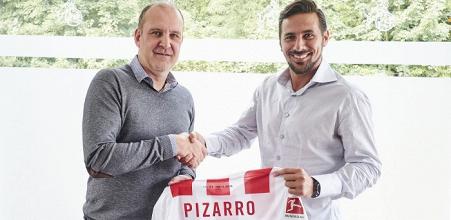 Claudio Pizarro makes Bundesliga return with Köln