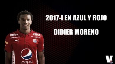 2017-I en azul y rojo: Didier Moreno