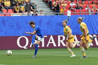 FIFA World Cup Francia 2019- Le azzurre partono benissimo. 2-1 all'Australia