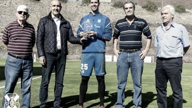 """Dani Hernández premiado """"Jugador Más Valioso"""" del CD Tenerife en la 2016-17"""