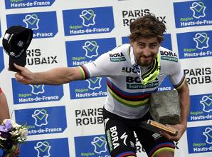 Un arcobaleno al Nord | Twitter Paris-Roubaix